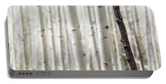 Single Black Birch Tree Trunk Portable Battery Charger