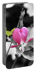 Single Bleeding Heart Partial Portable Battery Charger