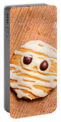 Single Homemade Mummy Cookie For Halloween Portable Battery Charger