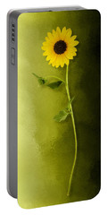 Portable Battery Charger featuring the photograph Single Long Stem Sunflower by Debi Dalio
