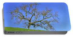 Portable Battery Charger featuring the photograph Single Oak Tree by Art Block Collections