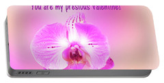Portable Battery Charger featuring the photograph Single Orchid Valentine by Linda Phelps