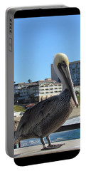 Single Pelican On The Pier Portable Battery Charger