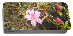 Single Pink Bloom Bush Portable Battery Charger