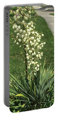 Portable Battery Charger featuring the photograph Single Strand White Flower Nature Photography Birthday Christmas Holidays Festivals Mom Dad Sister  by Navin Joshi