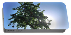 Single Tree - Sun And Blue Sky Portable Battery Charger