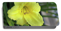 Single Yellow Day Lily Up Close Portable Battery Charger