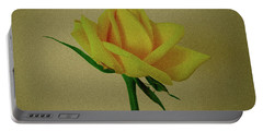 Single Yellow Rose Portable Battery Charger