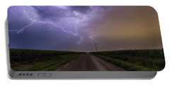 Portable Battery Charger featuring the photograph Sioux Falls Lightning by Aaron J Groen