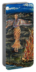 Sioux Woman Dancing Portable Battery Charger
