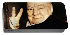 Sir Winston Churchill Victory Portable Battery Charger