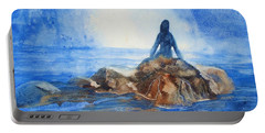 Portable Battery Charger featuring the painting Siren Song by Marilyn Jacobson