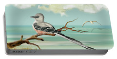 Sissor Tailed Flycatcher Portable Battery Charger by Anne Beverley-Stamps