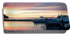 Sister Bay Marina At Sunset Portable Battery Charger
