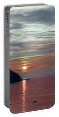 Sister Bay Sunset Portable Battery Charger