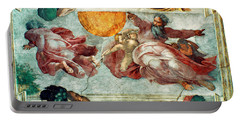 Sistine Chapel Ceiling Creation Of The Sun And Moon Portable Battery Charger