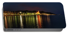 Portable Battery Charger featuring the photograph Sitges Night 001 by Lance Vaughn