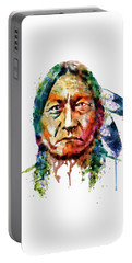 Sitting Bull Watercolor Painting Portable Battery Charger