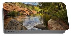 Portable Battery Charger featuring the photograph Sitting Creekside Oak Creek  by Saija Lehtonen