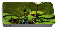 Sitting In A Waterlily Pond Portable Battery Charger
