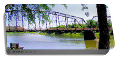 Portable Battery Charger featuring the photograph Sitting In Fort Benton by Susan Kinney