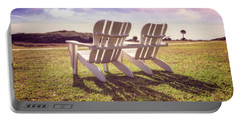 Portable Battery Charger featuring the photograph Sitting In The Sun by Debra and Dave Vanderlaan