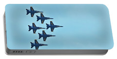 Six Blue Angels In The Clear Blue Sky Portable Battery Charger