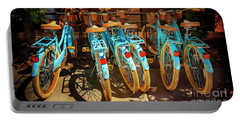 Portable Battery Charger featuring the photograph Six Huffy Bicycles by Craig J Satterlee