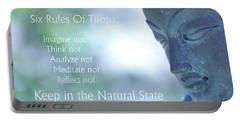 Six Rules Of Tilopa Portable Battery Charger by Agnieszka Ledwon