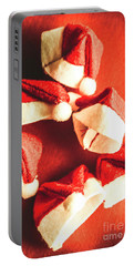 Six Santa Hats In Vintage Tone Portable Battery Charger