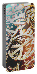 Sixties Peace Revolution Portable Battery Charger