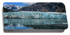 Portable Battery Charger featuring the photograph Size Perspective No Margerie Glacier by John Hight