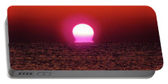 Portable Battery Charger featuring the photograph Sizzling Sunrise by D Hackett