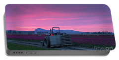 Portable Battery Charger featuring the photograph Skagit Valley Dusk Calm by Mike Reid