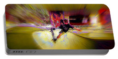 Portable Battery Charger featuring the photograph Skateboarding by Lori Seaman