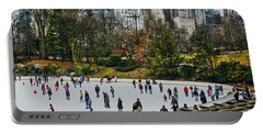 Skating At Central Park Portable Battery Charger