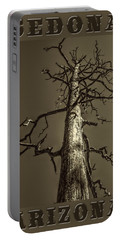 Skeletal Tree Sedona Arizona Portable Battery Charger