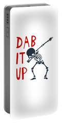 Skelleton Halloween Dabbing Funny Humor Easy Costume Dab It Up Everywhere Kids Children Dabbing Offi Portable Battery Charger