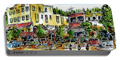 Portable Battery Charger featuring the painting Sketch Crawl In Truckee by Terry Banderas