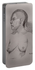 Sketch For Sitting Cassie Portable Battery Charger by Ray Agius