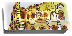 Sketching Italy Rome Colosseum Ruins Portable Battery Charger
