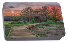 Portable Battery Charger featuring the photograph Skidaway Island State Park Overlook by Rob Sellers