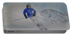 Skiing The Whistler Blackcomb In Bc Portable Battery Charger