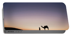 Skn 0860 Dawn At The Dunes Portable Battery Charger by Sunil Kapadia