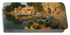 Skn 1391 A Visit To Gadisar Lake Portable Battery Charger by Sunil Kapadia