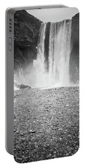 Skogafoss In Winter Portable Battery Charger