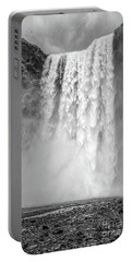 Portable Battery Charger featuring the photograph Skogafoss Waterfall Iceland by Edward Fielding