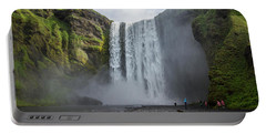 Skogafoss Waterfall, Iceland Portable Battery Charger