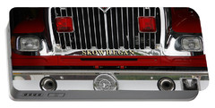 Portable Battery Charger featuring the photograph Skowhegan Maine Firetruck Grill by Michele A Loftus