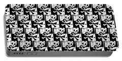 Skull Checker Portable Battery Charger by Roseanne Jones